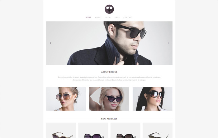 Bridge Sunglasses Shop Demo | قالب بریج