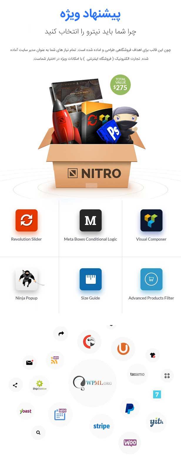 قالب وردپرس فروشگاهی نیترو | Nitro
