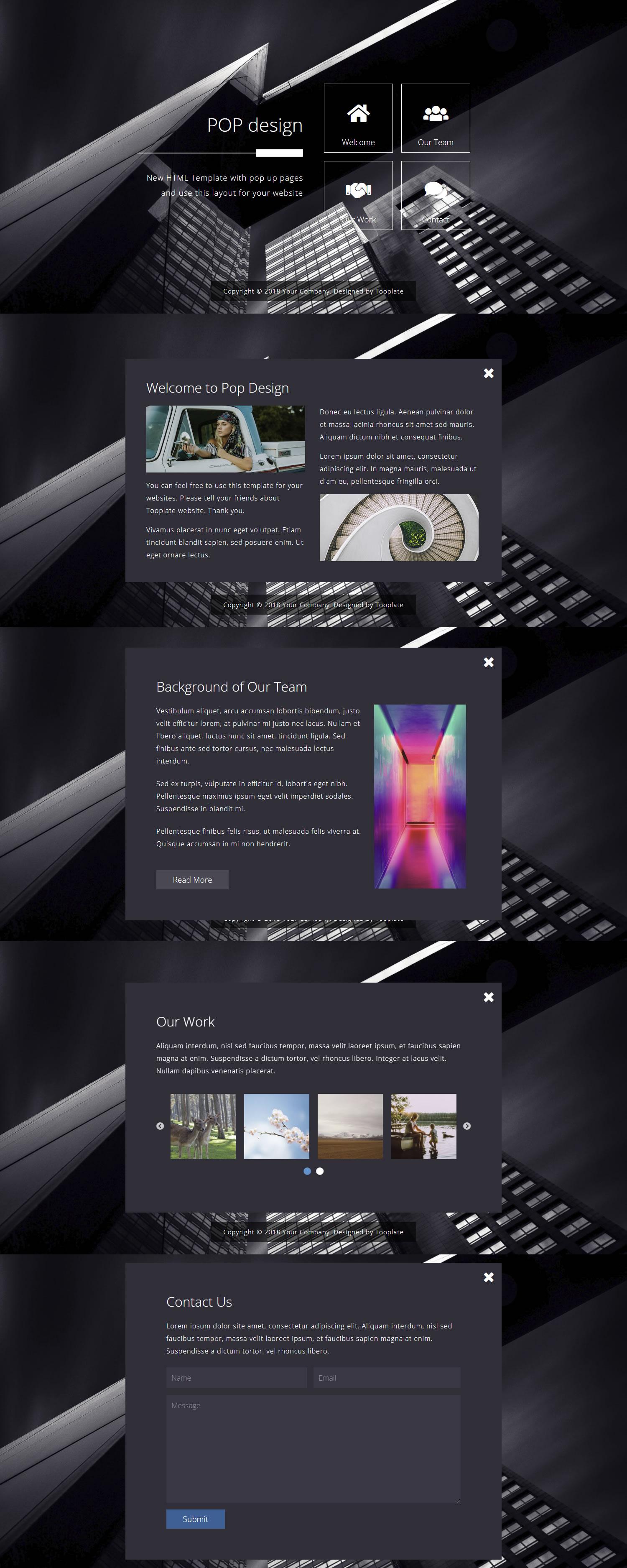 قالب popdesign | قالب پاپ دیزاین قالب html شرکتی پاپ دیزاین
