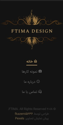 قالب Ftima قالب سایت نمونه کار و گالری قالب سایت ftima | قالب html نمونه کار افتیما