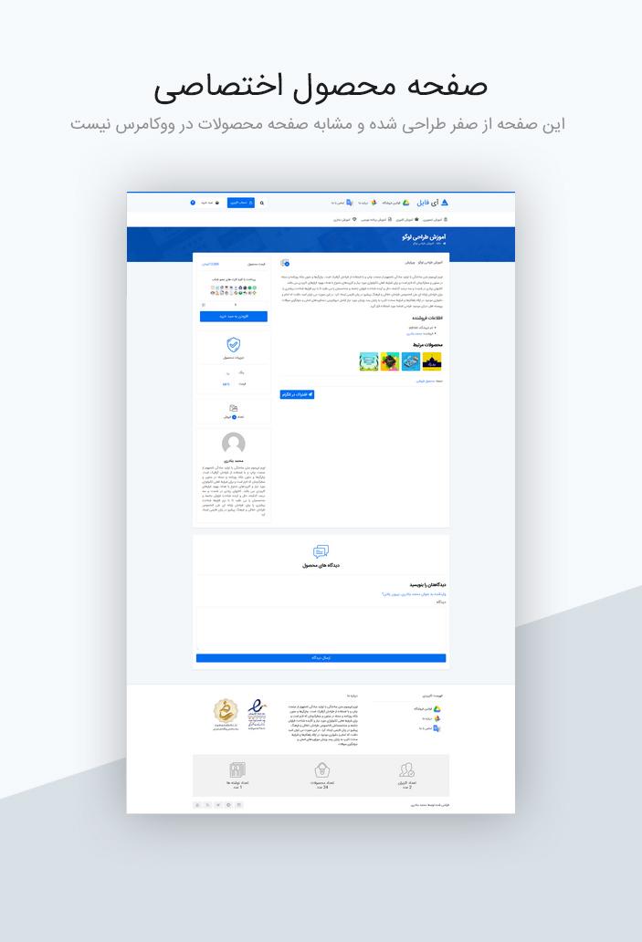 قالب فروش فایل آی فایل