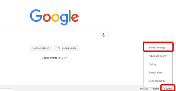 انتخاب کلمات کلیدی- تنظیمات گوگل