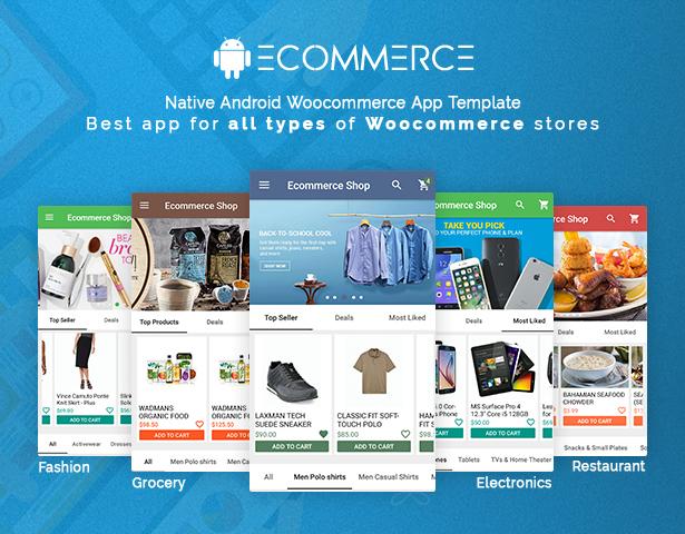 اپلیکیشن اندروید ووکامرس فروشگاهی android woocommerce mobile app