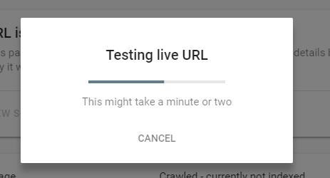 ابزار URL Inspection