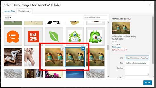 افزونه اسلایدر مقایسه تصاویر در وردپرس با حالت نمایش قبل و بعد