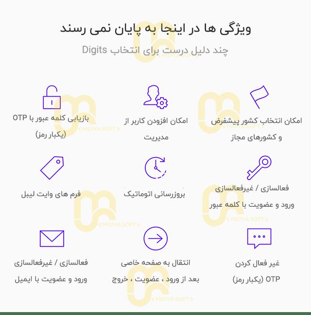 افزونه فارسی دیجیت نسخه 6.8.2 | Digits persian v6.8.2
