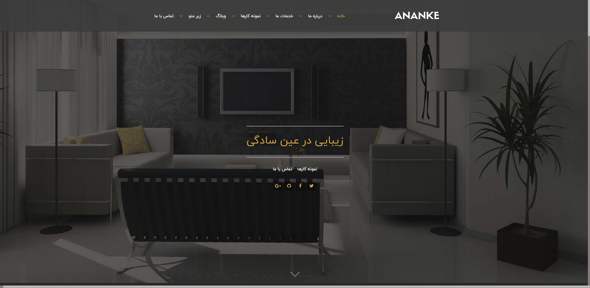 بهترین قالب تک صفحه ای Ananke