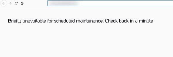 خطای Briefly unavailable for scheduled maintenance |خطای در حالت تعمیر در وردپرس