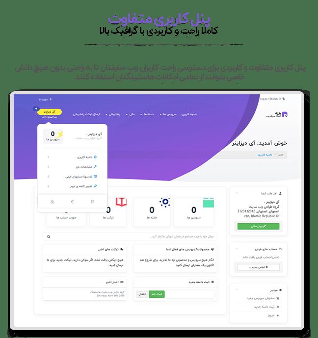قالب Bredh پوسته Whmcs و HTML کاملا فارسی و اورجینال