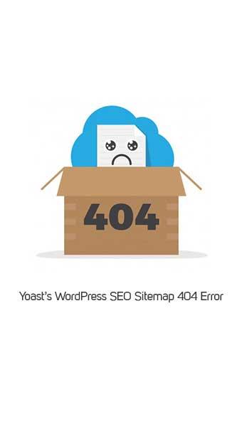 آموزش رفع خطای 404 نقشه سایت yoast seo image