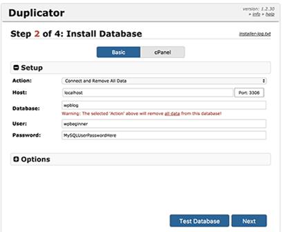 انتقال سایت وردپرس با Duplicator