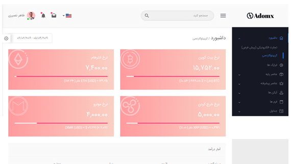 حالت روشن قالب HTML آدومکس