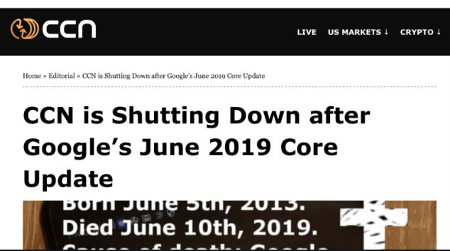 آپدیت هسته گوگل ژوئن 2019