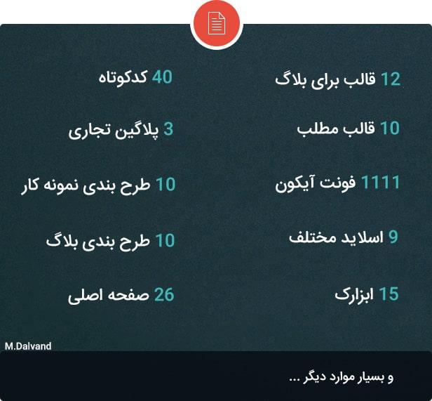 قالب فارسی Enar برای وردپرس  قالب بلاگ وردپرس