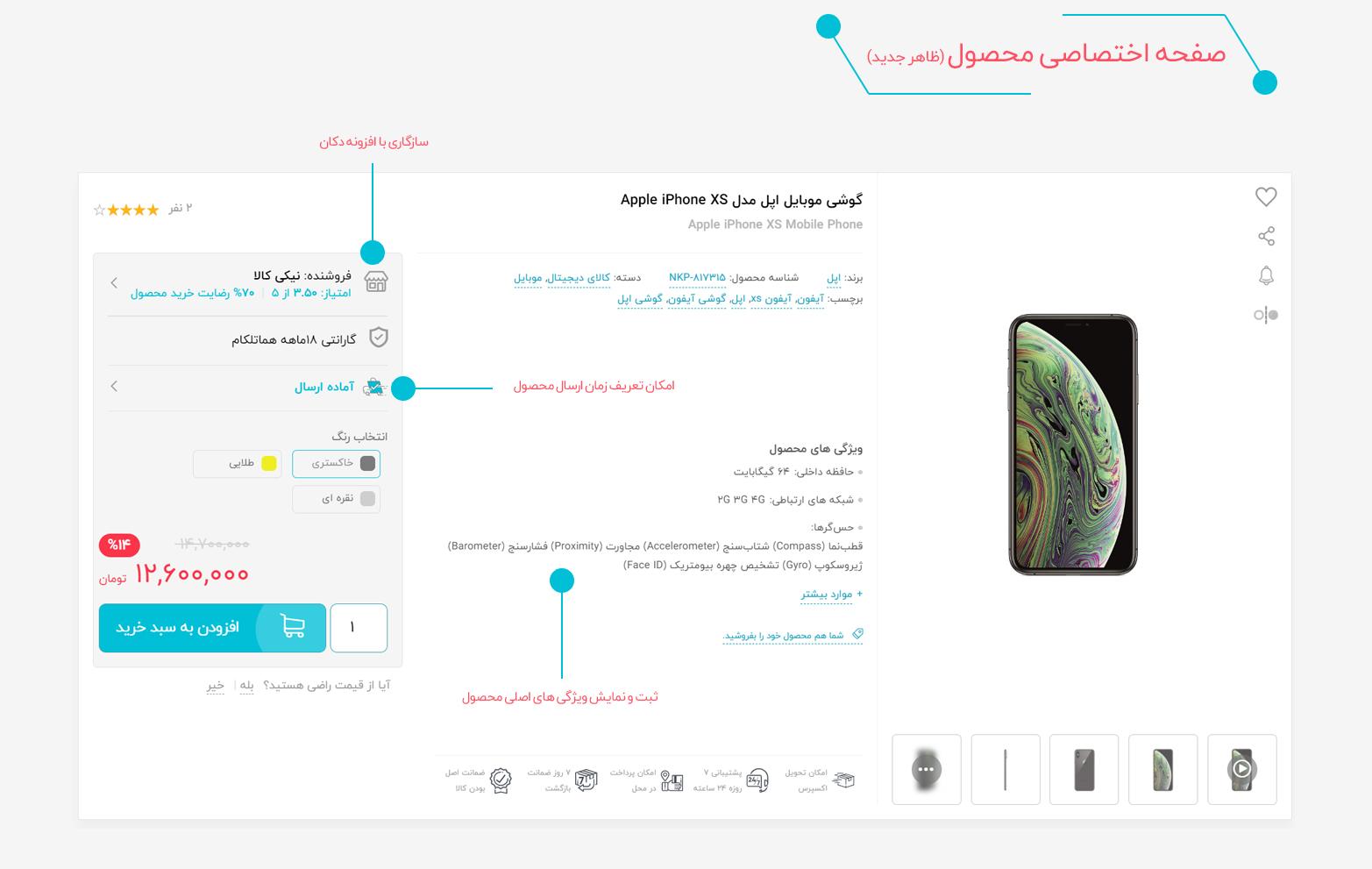 صفحه محصول در قالب نیکی کالا (ظاهر جدید) | قالب دیجی کالا