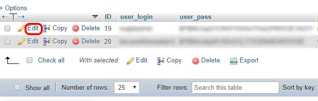 مدیریت پایگاه داده وردپرس با phpMyAdmin