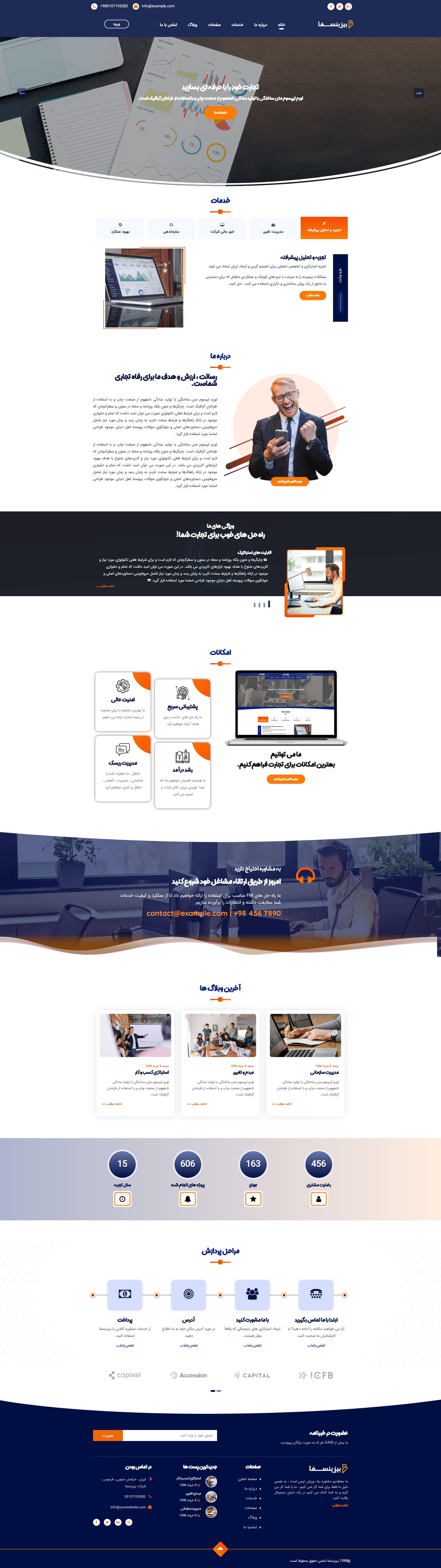 خرید قالب HTML Bizinesfa