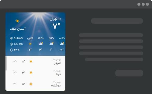 افزونه Weather Forecast