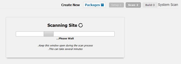 اسکن سایت برای ایجاد بسته نصب آسان افزونه داپلیکیتور