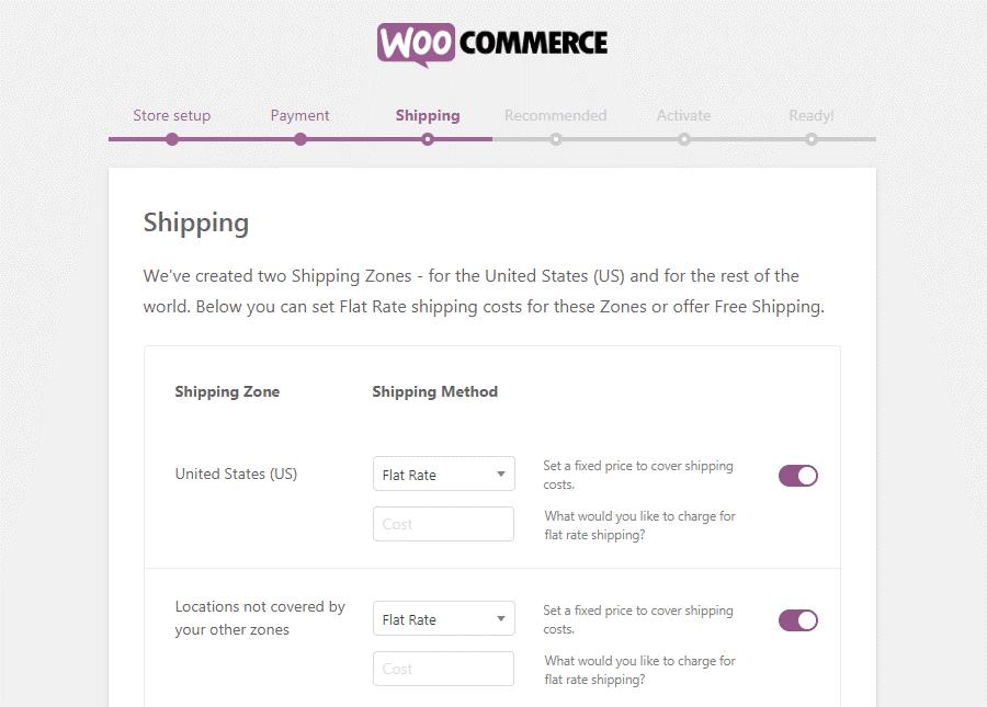 تنظیم هزینه حمل و نقل و ارسال محصولات در ووکامرس
