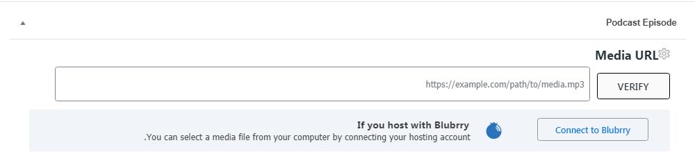 انتخاب آدرس بارگذاری پادکست