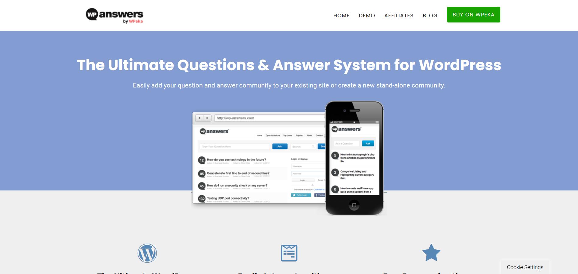 پلاگین پرسش و پاسخ وردپرسی WP-Answers
