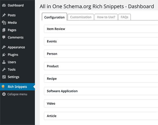 ستاره دار کردن مطالب وردپرس با پلاگین Schema – All In One Schema Rich Snippets