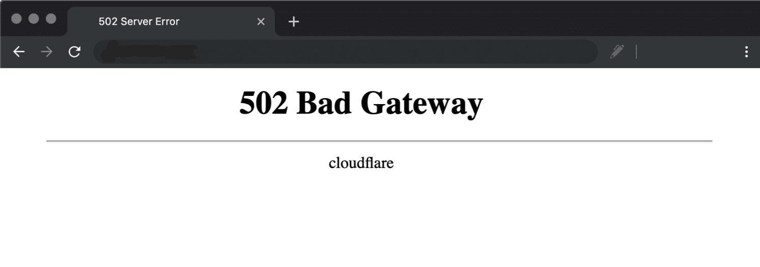 غیر فعال کردن cdn برای رفع خطای 502