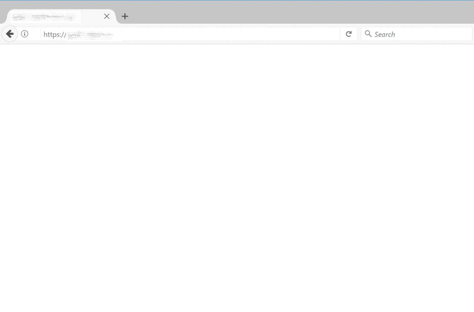 خطای صفحه ی سفید نمونه