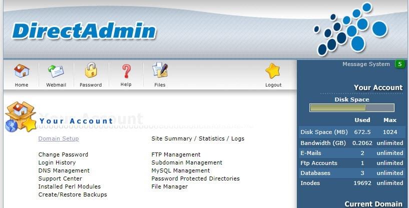 نسخه php در direct admin