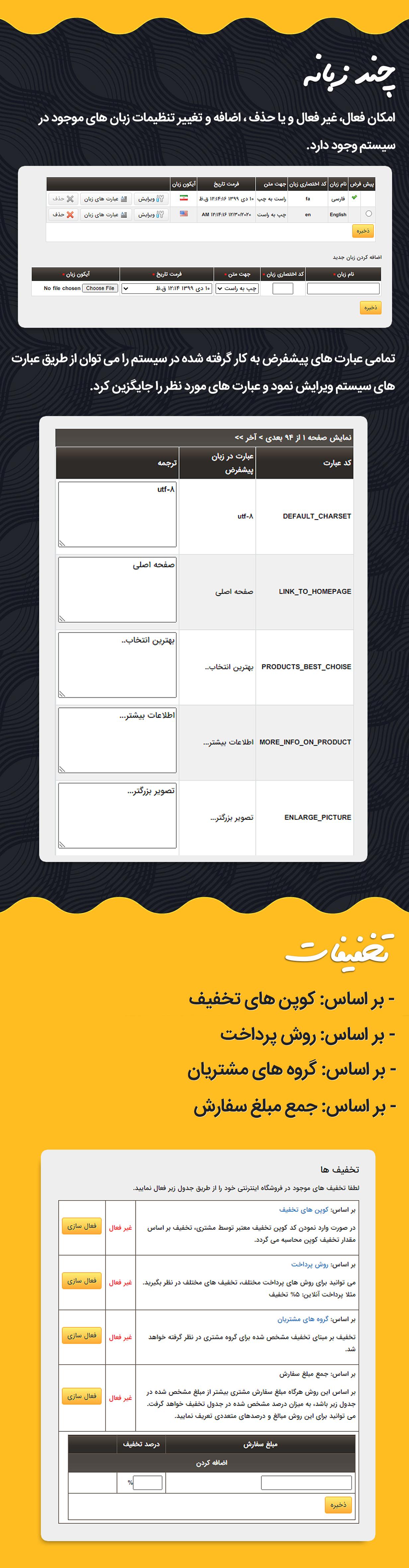 تخفیف در اسکریپت فارسی GNIK