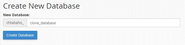مراحل انتقال سایت به هاست جدید انتخاب نام برای دیتابیس
