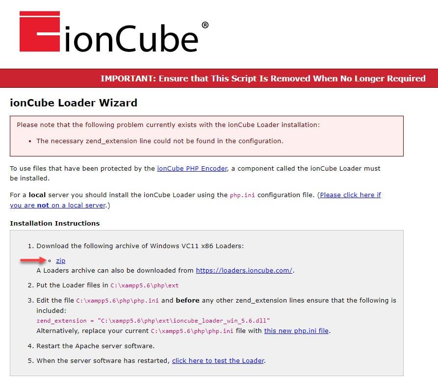 آموزش فعال سازی ioncube در لوکال هاست