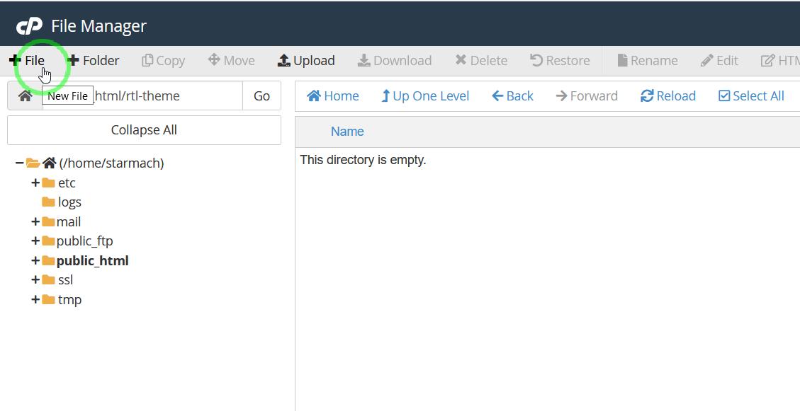 ایجاد فایل copy.php در هاست