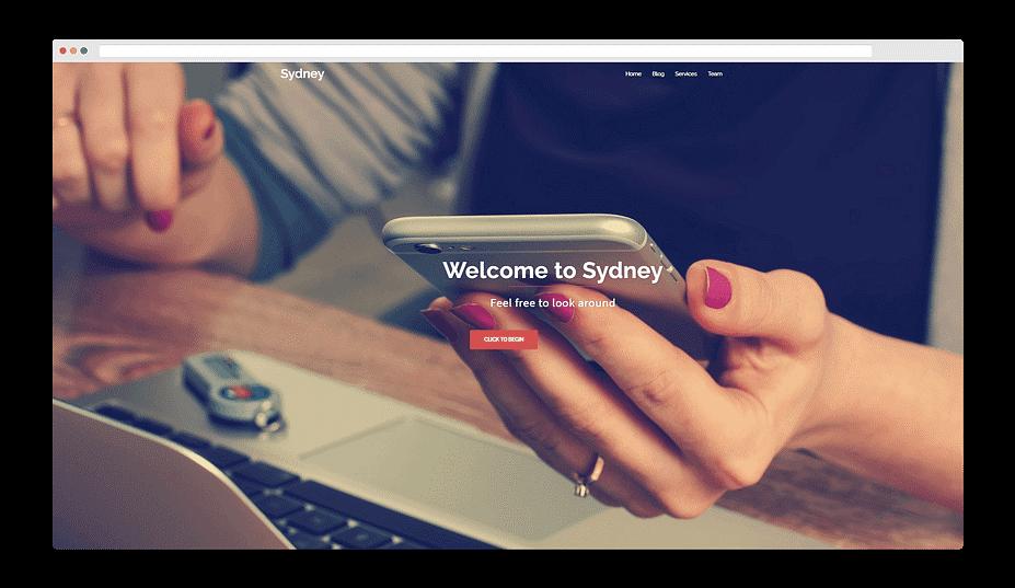 ویژگی های قالب رایگان المنتور Sydney