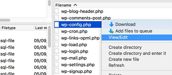 تنظیمات WP-CONFIG