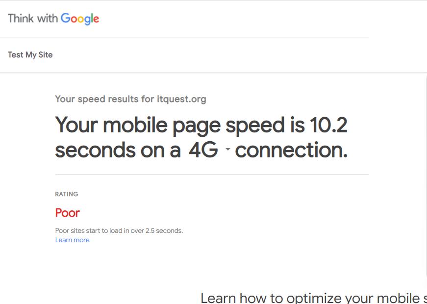 بررسی سرعت سایت در ابزار Page Speed Insights