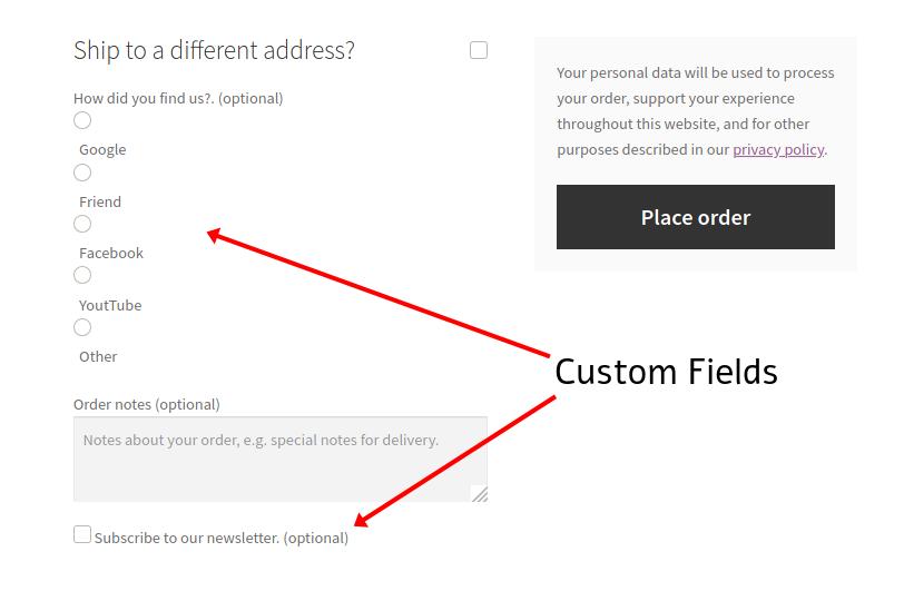 تغییر فیلد صفحه پرداخت با استفاده از کد نویسی