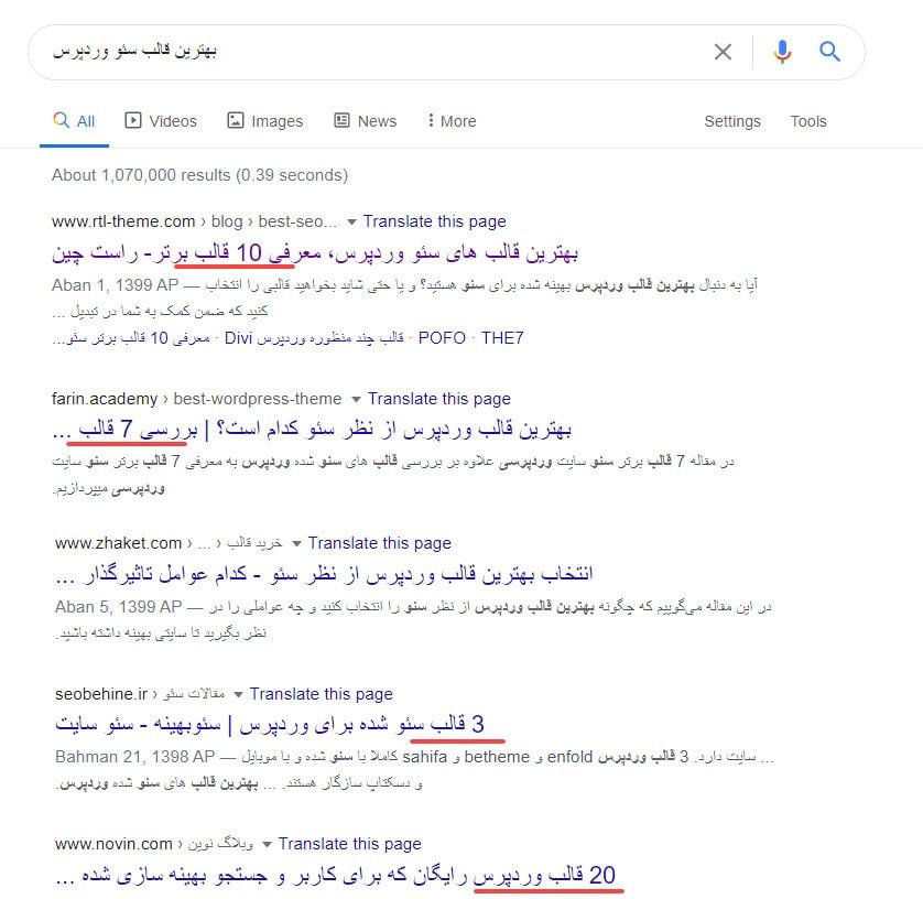 تشخیص فرمت محتوا در بالا آمدن سایت در صفحه اول گوگل