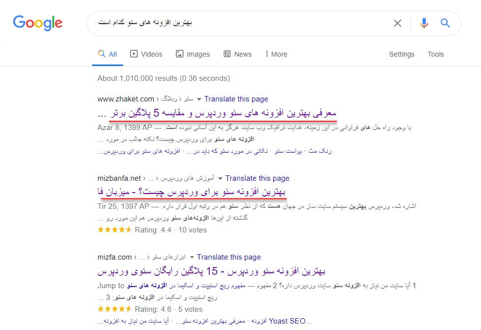تشخیص نوع محتوا برای بالا آمدن سایت در صفحه اول گوگل