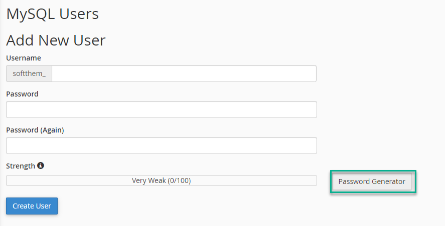 انتخاب نام کاربری و پسورد برای مراحل نصب جوملا بر روی هاست