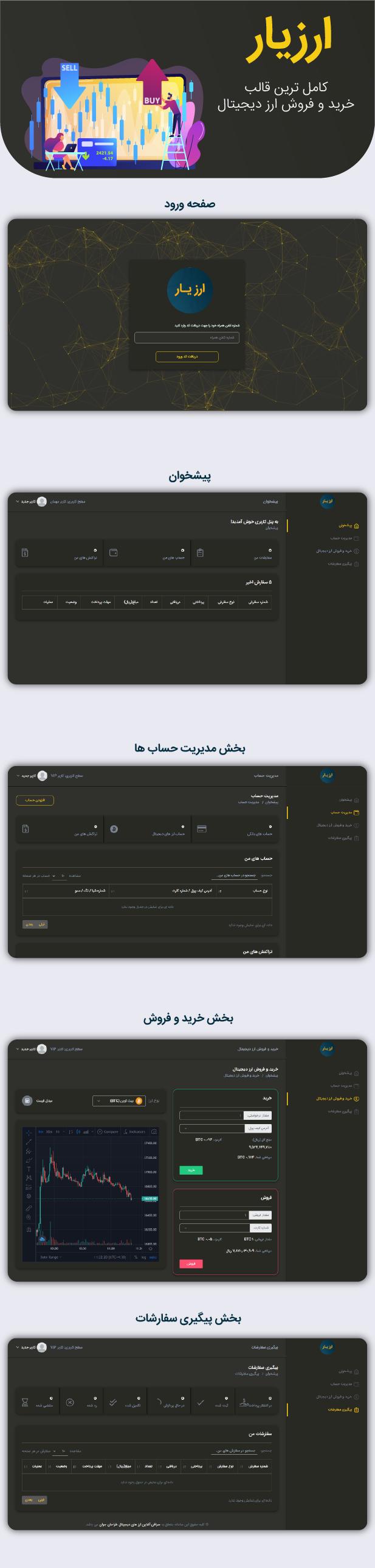 اسکریپت صرافی ارز دیجیتال ارزیار