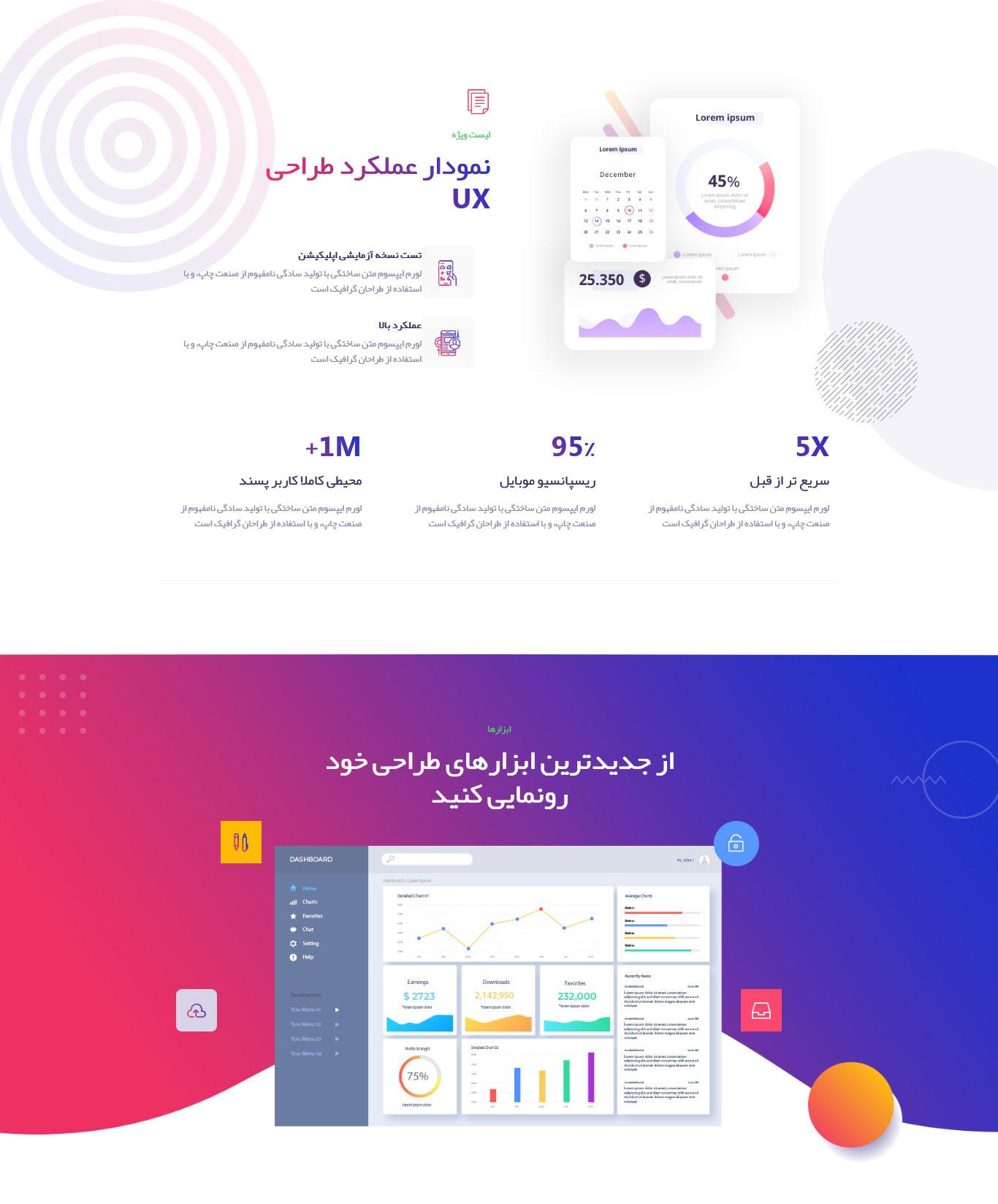 قالب HTML معرفی اپلیکیشن Xshapp