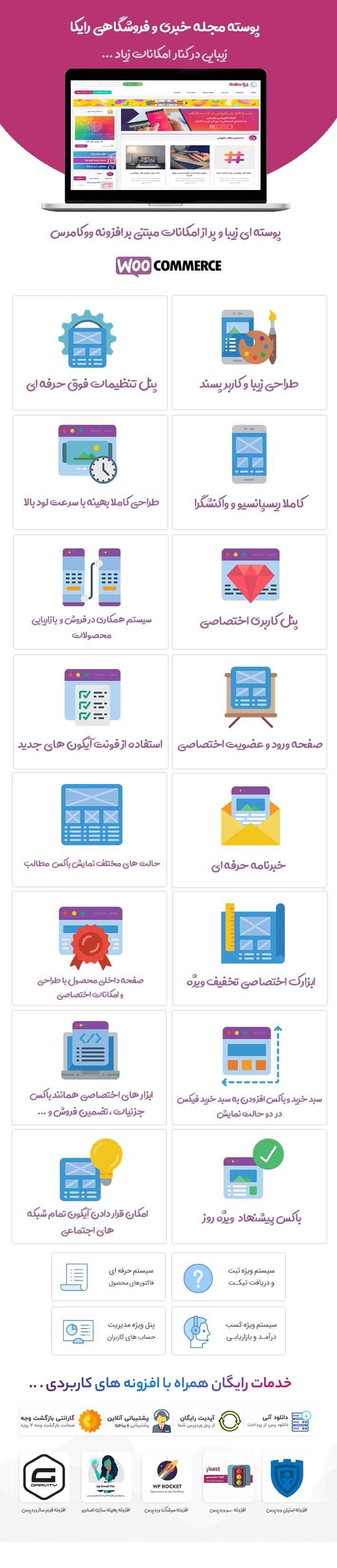 قالب فروشکاهی ایرانی وردپرس