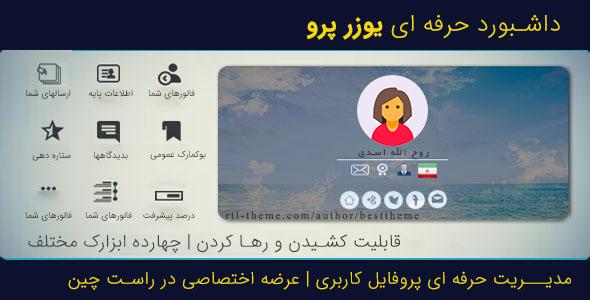 افزونه فارسیUserPro Dashboard 3.7 | افزونه پیشخوان و داشبورد یوزرپرو