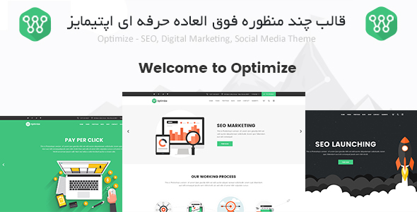قالب چند منظوره Optimize | اپتیمایز | SEO, Digital Marketing - چند منظوره